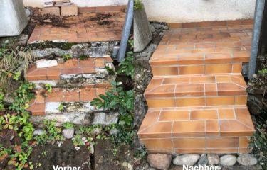 Erneuerung Außentreppe